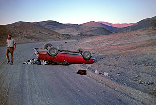 Car accident near La Silla