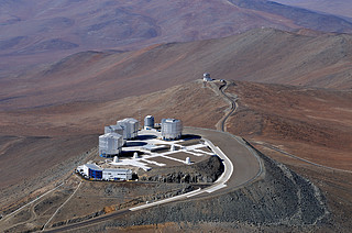 Bird's Eye View of the Very Large Telescope