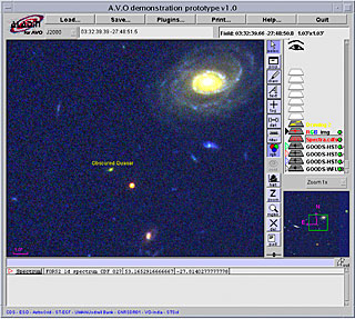 AVO windows with obscured quasar image