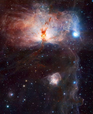 The hidden fires of the Flame Nebula*