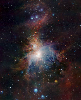 VISTA's infrared view of the Orion Nebula*