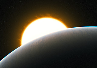 Planet with superstorm (artist's impression)
