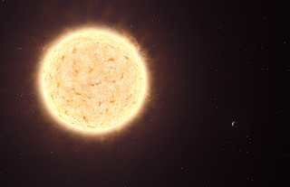 First planet of extragalactic origin (artist's impression)
