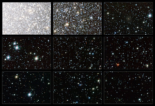 Highlights from the VST image of Omega Centauri