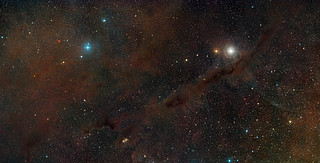 Digitized Sky Survey Image of part of the Taurus Molecular Cloud