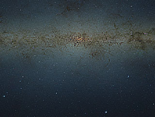 VISTA gigapixel mosaic of the central parts of the Milky Way