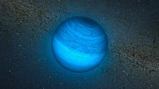 Impresión artística del planeta errante CFBDSIR J214947.2-040308.9