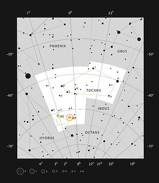 The globular star cluster 47 Tucanae in the constellation of Tucana (The Toucan)