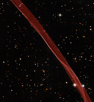 Part of the supernova remnant SN 1006 seen with the NASA/ESA Hubble Space Telescope