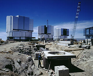 Construction at Paranal Observatory