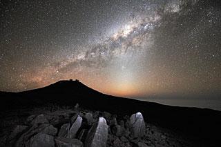 A Via Láctea ao longo Paranal