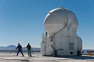 VLT Auxiliary Telescope 3 being moved