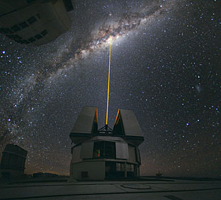 A Laser Beam Towards the Milky Way's Centre