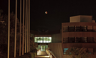 A Blood Moon over ESO's Headquarters