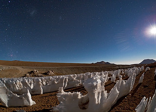 Icy Penitents by Moonlight on Chajnantor