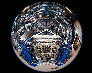 Inside the VLT Yepun Telescope