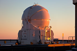 An Auxiliary Telescope Waiting for Sunset
