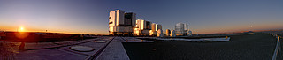 skywatching Panorama of Sunset on Paranal