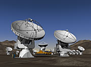 Artist impression of the Atacama large Millimetre Array