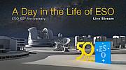 Юбилейная онлайн-трансляция наблюдений с Очень Большим Телескопом ESO к 50-й годовщине обсерватории