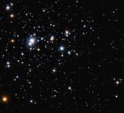 Widest adaptive optics view of the open star cluster Trumpler 14