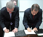 The Signing Ceremony with Brazil