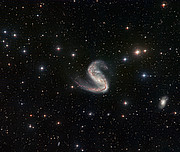 Wide-field view of the Meathook Galaxy