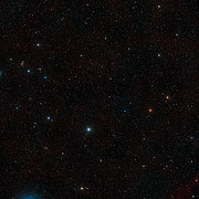 Wide-field view of the sky around a giant space blob