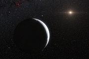 Artist's impression of the dwarf planet Eris