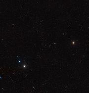 Vista panoramica dell'ammasso di galassie di Ercole