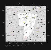 Kulová hvězdokupa NGC 6362 v souhvězdí oltáře