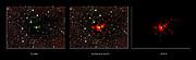 O nascimento de uma estrela monstruosa visto a diferentes comprimentos de onda