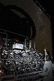 Lo strumento MUSE durante la notte