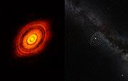 Comparación de HL Tauri con el Sistema Solar