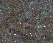 VISTA obtiene imágenes de la nebulosa Trífida y desvela la existencia de estrellas variables ocultas (imagen de amplio campo)
