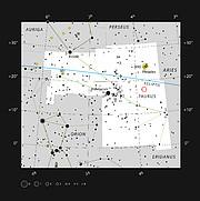 La inusual estrella binaria V471 Tauri, en la constelación de Tauro