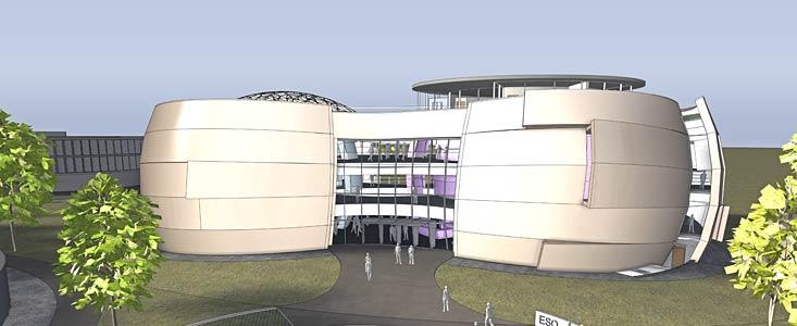 ESOs nye besøgscenter og planetarium i Garching
