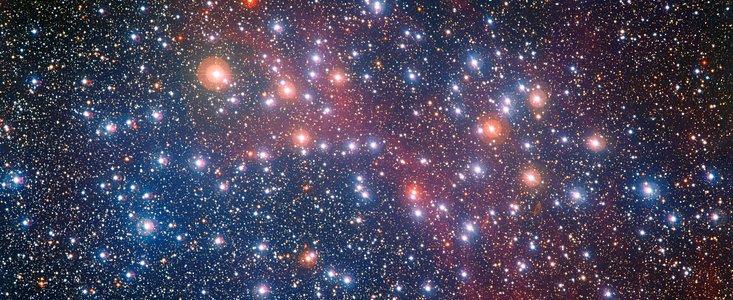 Usædvanligt spraglet stjernehob