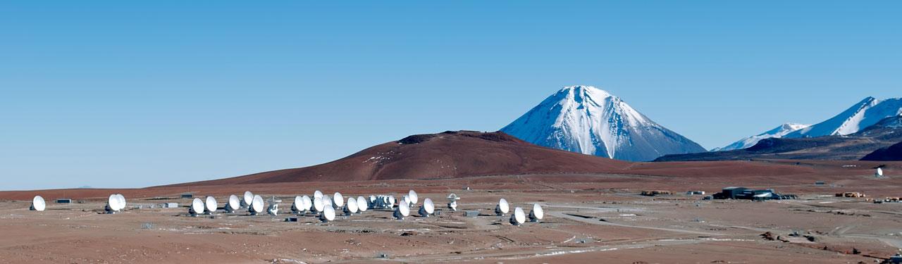 ALMA array on Chajnantor, Chile