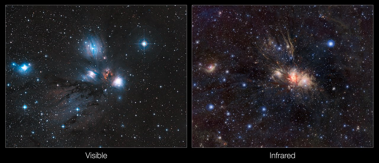 Infrared Visible Light Comparison View Of The Helix Nebula: STFC: Spectacular Image Wows UK Scientists