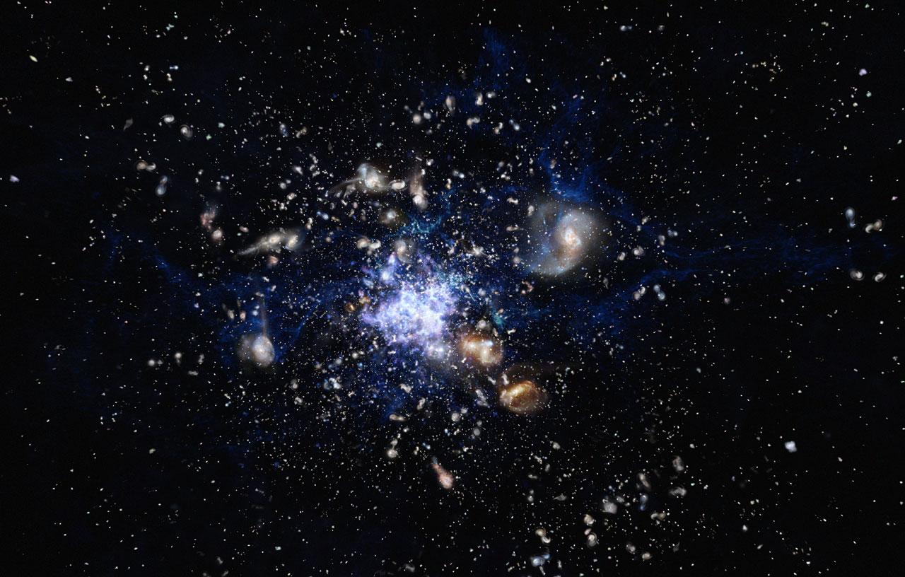 Resultado de imagen de Identificando galaxias en sus primeras etapas de formación en el Universo profundo