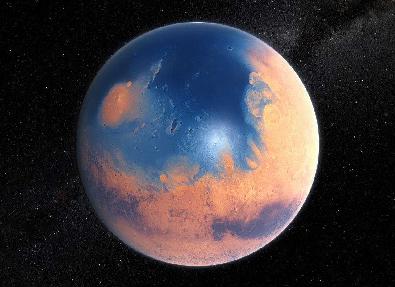 KAKO JE IZGLEDAO MARS PRE 4 MILIJARDE GODINA? Eso1509b