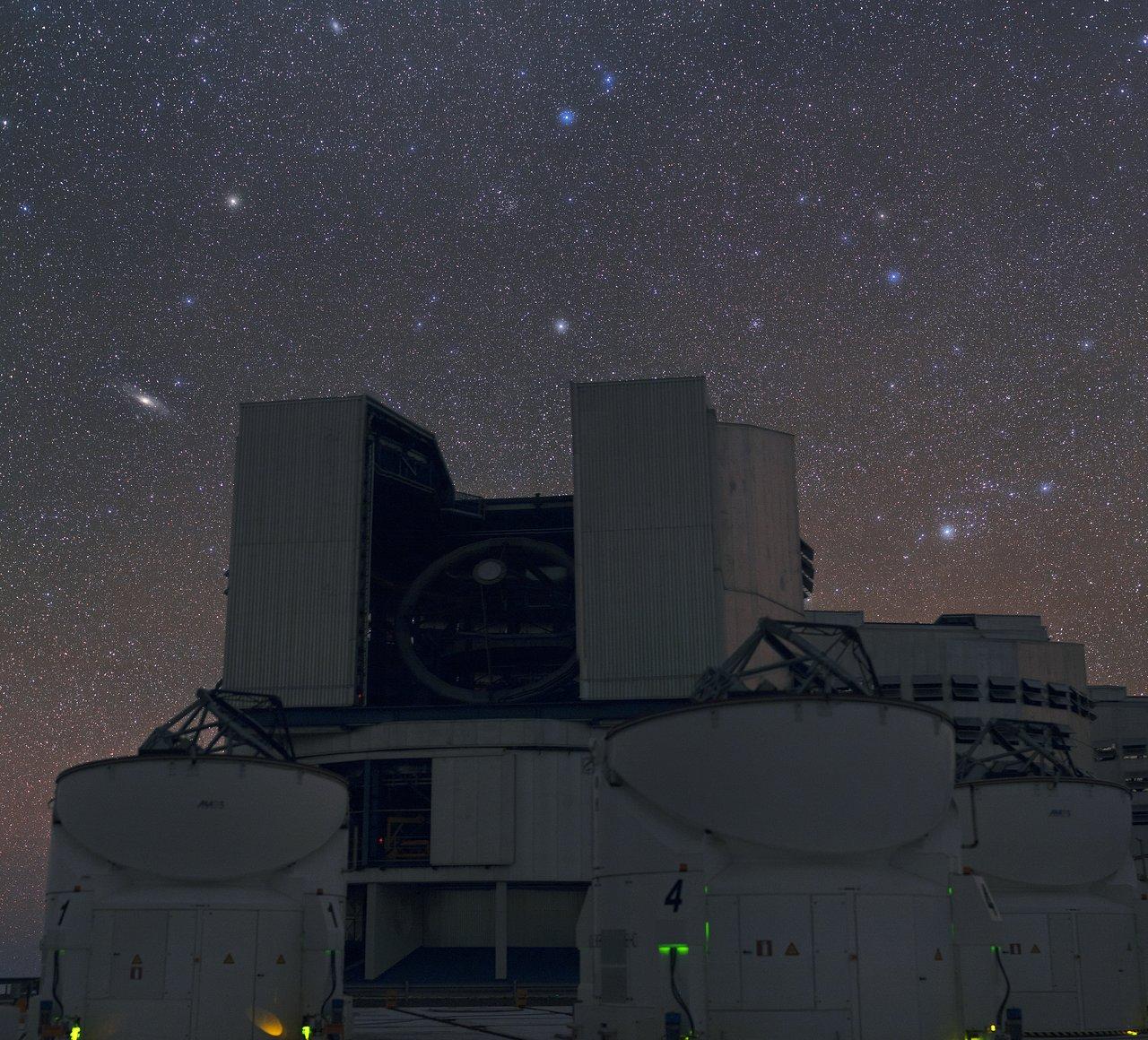 Andromeda galaxy through 8 in telescope