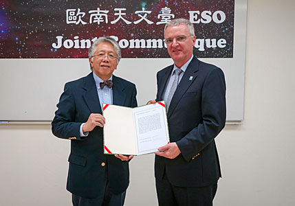 ESO and EAO sign Joint Communiqué