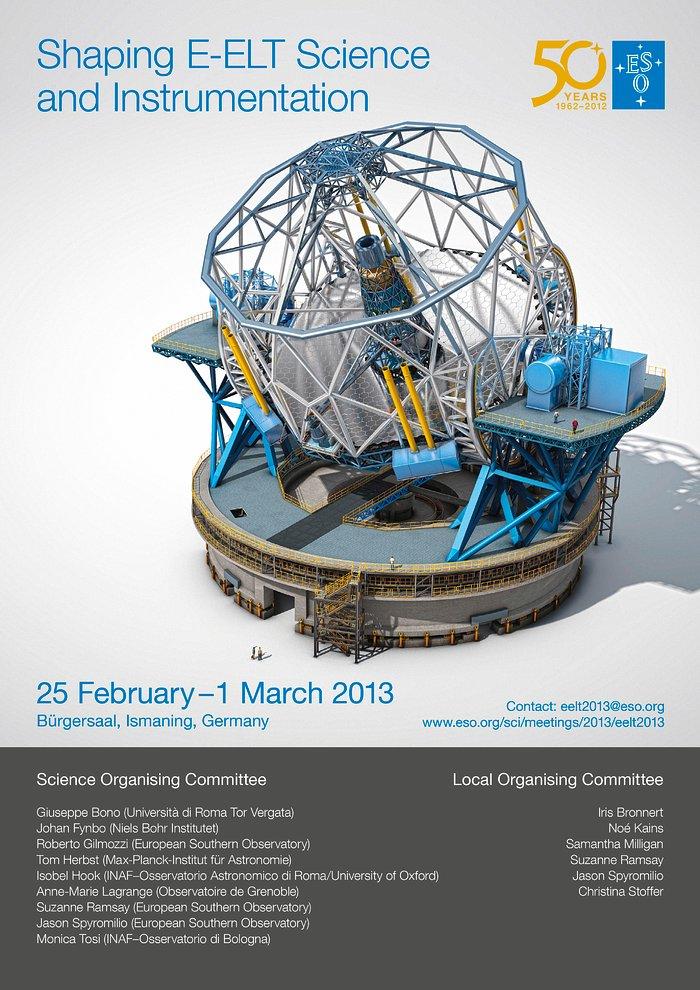 Poster zur Konferenz ¨Shaping E-ELT Science and Instrumentation