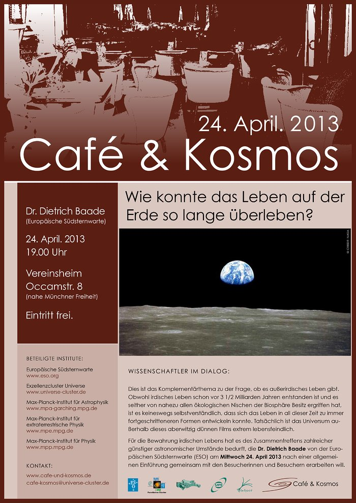 Poster zu Café & Kosmos am 24. April 2013
