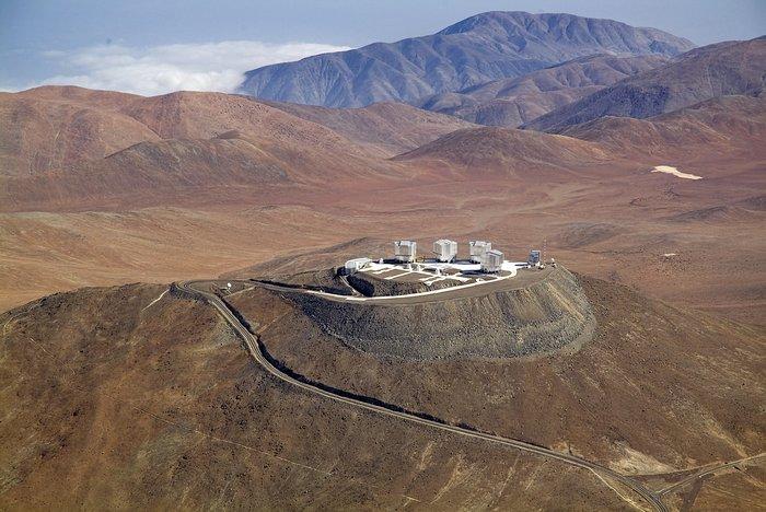 Vista aérea do Cerro Paranal