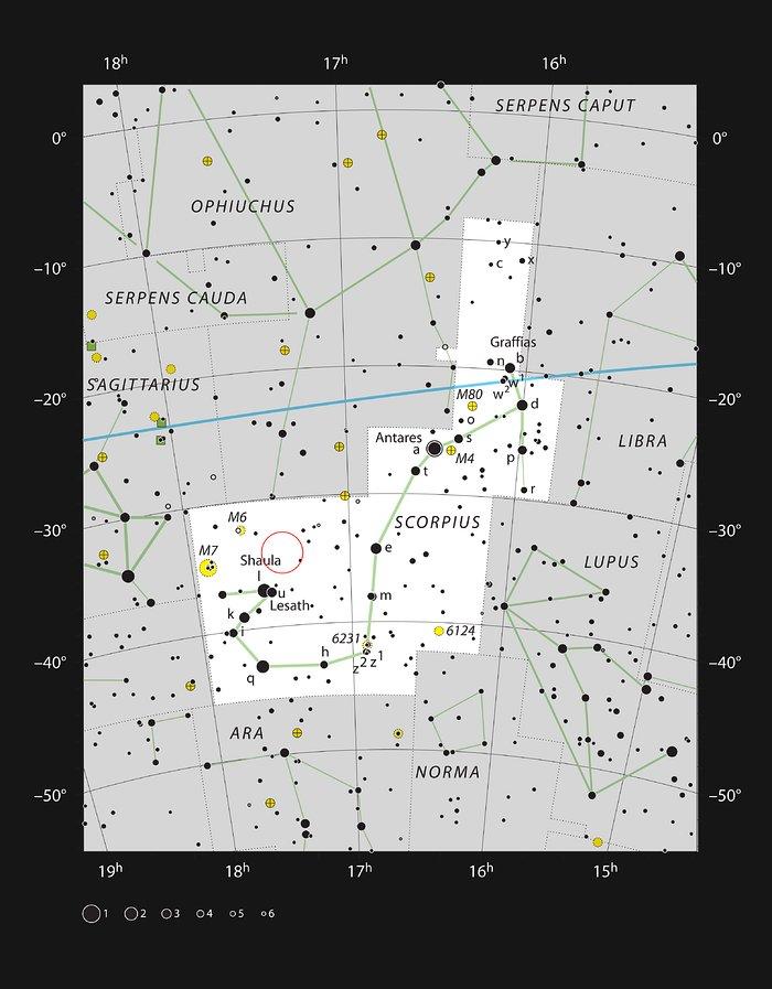 NGC 6357 í stjörnumerkinu Sporðdrekanum