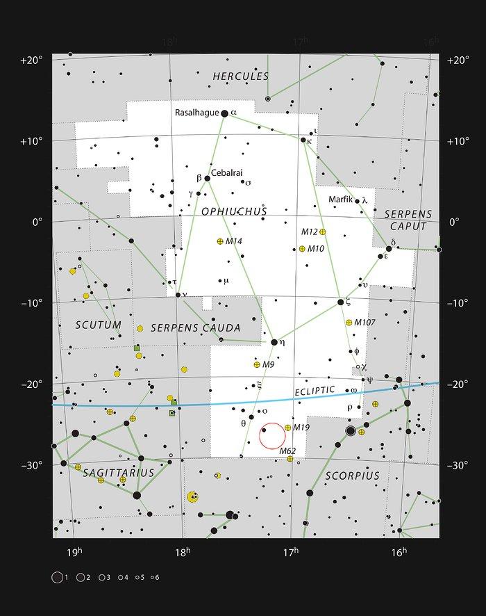 Barnard 59, une nébuleuse sombre dans la constellation d'Ophiuchus