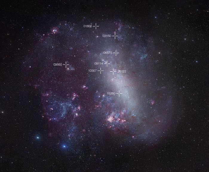Mapa Velkého Magellanova oblaku